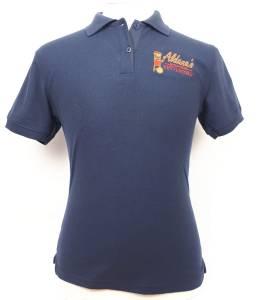 camiseta tipo polo con bordado textil